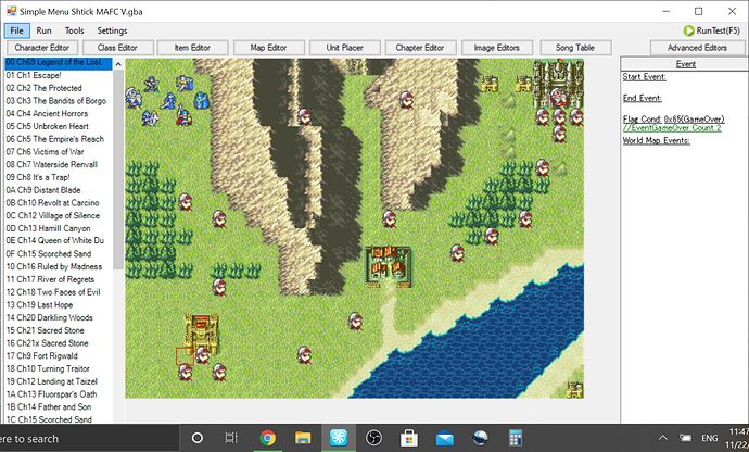 4) The map is done, save for some last minute decisions, and so is player unit placement, although enemy placement may change.PNG