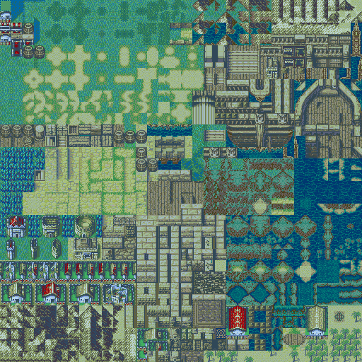 Updated Village Tileset Night