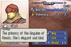 Fire Emblem - The Sacred Stones Boss recruitment