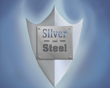 silver and steel logo tiny