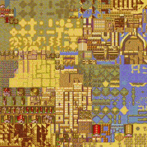 Updated Village Tileset Sunset 1