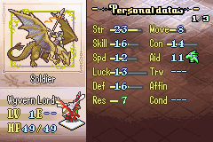 FE - TTD Wyvern Lord Stats